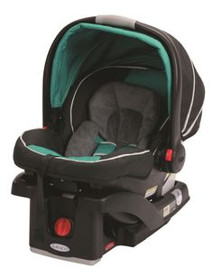 Graco® SnugRide™ 35 Click Connect Infant Car Seat in turquoise and black Radiance fashion.