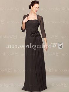 chiffon mother of the bride dresses_Espresso