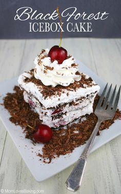 Only 4 ingredients, it's no-bake and tastes like Black Forest Cake!