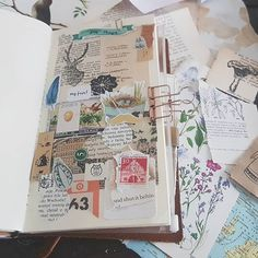 Today I created a page made almost entirely of papergoodies you've sent me. Fabric Journals, Journal Paper, Scrapbook Journal, Art Journal Pages, Art Journals, Bullet Journal Art, Bullet Journal Inspiration, Journal Notebook, Junk Journal