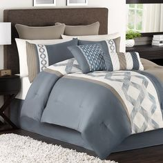 Carson comforter set - would match the blue walls perfectly!!