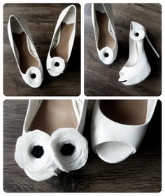 Anemone Flower Shoe Clips/ Kwiaty anemonu - klipsy do butów / Perfect for Wedding / Idealne do ślubu