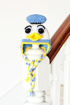 Donald Duck Inspired Baby Hat Crochet Pattern via Hopeful Honey