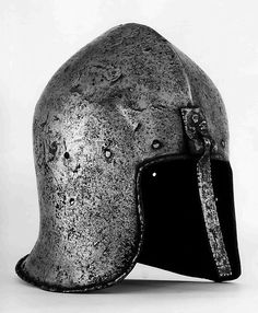 Barbute with Hinged Nasal Date: ca. 1450 Geography: probably Milan Culture: Italian, probably Milan Medium: Steel Dimensions: H. 11 in. (27.9 cm); W. 8 in. (20.3 cm); D. 10 3/4 in. (27.3 cm); Wt. 5 lb. 5 oz. (2410 g)