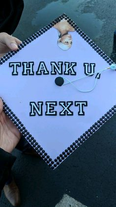 #graduationcap #gradcap #thankunext #arianagrande Funny Graduation Caps, Graduation Cap Designs, Graduation Cap Decoration, Grad Cap, High School Graduation, College Graduation, Graduate School, Decorated Graduation Caps, Graduation Ideas