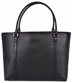 ae75e4299b2 Gucci Women s Micro GG Guccissima Leather Joy Purse Tote (Black) Tote  Handbags