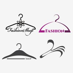 Photo about Creative fashion logo design. Vector sign with lettering and hanger symbol. Illustration of creative, clothes, evening - 109522002 Hanger Logo, Hanger Clips, Fashion Logo Design, Fashion Brand, Business Names, Instagram Fashion, Symbols, Lettering, Logos