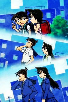Childhood friends are the most persons in your life who always stays by your side but once they are gone, you long for their presence! Detective Conan Quotes, Manga Detective Conan, Detective Conan Shinichi, Ran And Shinichi, Kudo Shinichi, Case Closed Anime, Otaku, Detektif Conan, Fangirl