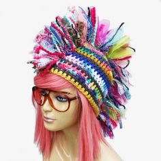 corchet mohawk 400x399 100 Unique Crochet Hats