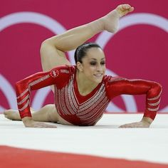 Jordan Weiber, on floor exercise. One of the Fab Five!
