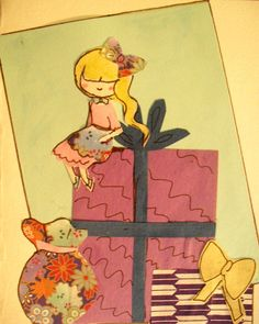 Presents for a Pretty Girl Greeting Card by KuriCorvid on Etsy, $5.99