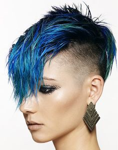 Chumba Concept Salon Short Blue Hairstyles