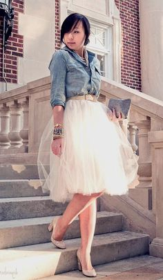 Ivory Tulle Skirt Bridesmaid Flower Girl Skirt Wedding Dress Tutu Ballet Source by Look Fashion, Fashion Outfits, Womens Fashion, Skirt Fashion, Feminine Fashion, Fashion Night, Fashion Black, Fashion Trends, Fashion News