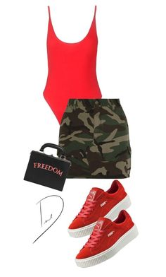 """Untitled #13"" by bydhoney ❤ liked on Polyvore featuring Yves Saint Laurent, Puma and Bertoni"