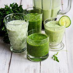 Grüne Smoothies machen müde Geister ganz schnell munter. Rezepte für Smoothies mit Avocado, Minze oder Basilikum gibt's im Springlane Magazin.