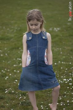 Miss Polly, pattern from Sewony, dress from upcycled jeans