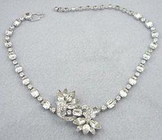 Eisenberg Rhinestone Necklace - Garden Party Collection Vintage Jewelry
