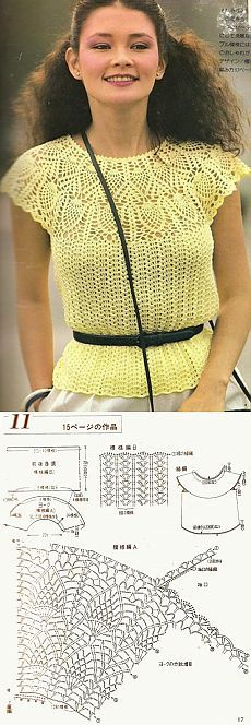 Summer openwork blouse