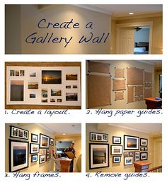 Creating a gallery wall ... great idea! i've soo many Instagram pics and more *sigh* ... just need to take my time to do this. but this guide makes it look easy :) ~m