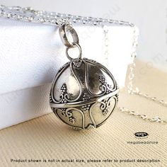 Bola Necklace Chime Pendant 20mm Harmony Ball 925 by MegaBeadStore