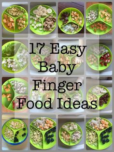 Fast, really easy to put together baby meals. Finger foods the baby can feed themselves with.