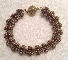 Merlot bracelet beaded by my Beading Friends -Ellad2 beading Tutorials