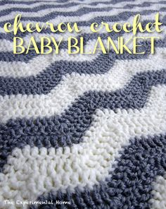 I made a grey and white chevron crochet baby blanket for a friend. Free pattern.
