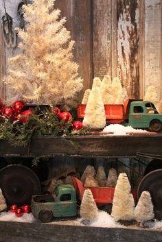 cool vintage Christmas display