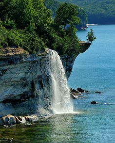 """Spray Falls""  Pictured Rocks National Lakeshore by Michigan Nut Photography"
