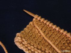 Image titled Stop the Edges from Curling when Knitting a Scarf Step 3 Knitting Help, Knitting Stiches, Loom Knitting, Knitting Needles, Knit Stitches, Hand Knitting, Knitting Machine, Vintage Knitting, Yarn Projects