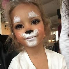 Explore collection of Easter Bunny Face Painting Bunny Face Paint, Easter Face Paint, Tiger Face Paint Easy, Mouse Face Paint, Lion Face Paint, White Face Paint, Bunny Makeup, Kids Makeup, Easy Cat Makeup