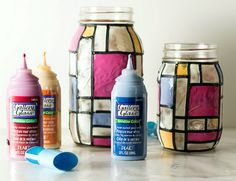 DIY Stained Glass - Turn ordinary mason jars into decorative accents