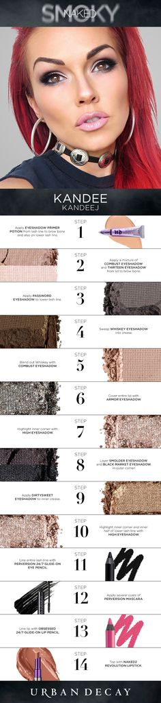 45 Trendy makeup tutorial eyeshadow urban decay make up Love Makeup, Makeup Tips, Beauty Makeup, Makeup Looks, Hair Beauty, Makeup Ideas, Picture Makeup, Drugstore Beauty, Makeup Box
