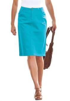Plus Size Denim Skirt