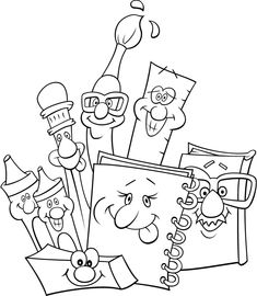 Back To School Supplies Free Coloring Pages For Kids