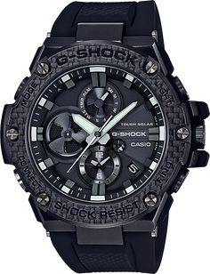 online shopping for Men's Casio G-Shock G-Steel Black Carbon Resin Bluetooth Watch from top store. See new offer for Men's Casio G-Shock G-Steel Black Carbon Resin Bluetooth Watch Casio Protrek, Sport Watches, Cool Watches, Watches For Men, Men's Watches, Luxury Watches, Wrist Watches, Fashion Watches, Oakley Watches