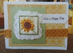 Handmade card with paper casting