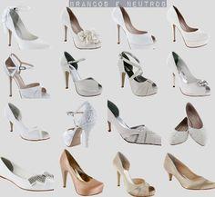 Belos e modernos: sapatos para todos os tipos de noiva.