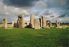 STONEHENGE, Wiltshire, England    The Neolithic sites of Avebury and Stonehenge are two of the largest and most famous megalithic monuments in the world. They relate to man's interaction with his environment. The purpose of the henges has been a source of speculation, with suggestions ranging from ceremonial to interpreting the cosmos