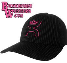 #GetyourHOOey, Pink, Pinstripe, Bugsy FlexFit Cap, Cowboy Hat, Hooey, Rodeo, Tough Enough, Calf Roping, $29.98, http://bunkhousewestern.com/PBUG