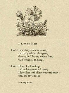 i loved him.. #langleav i just love her style..