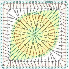 Crochet Stars, Crochet Mandala, Crochet Granny, Cute Crochet, Crochet Motif, Knit Crochet, Crochet Flower Patterns, Crochet Designs, Crochet Flowers