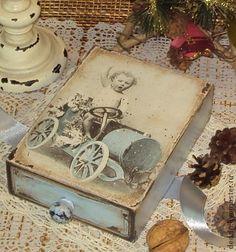"""Коробочка для сладкого подарка """"Прошлый век"""""""