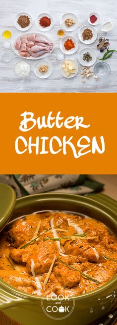 Butter Chicken Recipe ( pieces of chicken cooked in a deliciously rich makhani gravy, to give everyone's favourite Mughlai dish. Learn how to please audiences with our recipe of Butter Chicken here! Veg Recipes, Curry Recipes, Easy Chicken Recipes, Indian Food Recipes, Vegetarian Recipes, Cooking Recipes, Asian Recipes, Dinner Recipes, Look And Cook