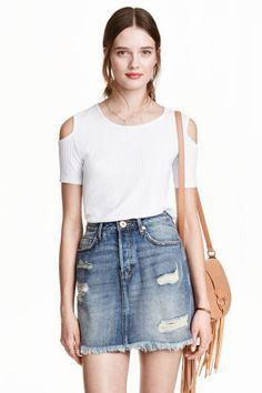 Worn denim skirt | H&M 30