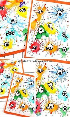 Blow Painting Germ art project for children - Diy project - Blow Painting Germ art project for children #diyprojects #children #kunstprojekt #painting - #Art #Blow #children #DIY #Germ #IndianPaintings #OilPaintings #painting #Paintings #project<br> Summer Crafts, Summer Art, Fall Crafts, Diy Crafts For Kids, Kids Diy, Summer Kids, Creative Crafts, Easy Art For Kids, Art Mignon