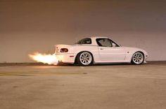 Miata flaming...literally