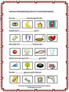 Speech Language Therapy, Speech And Language, Speech Therapy, Turkish Lessons, Activities For 1 Year Olds, Turkish Language, Hidden Pictures, Autism Classroom, Preschool Printables