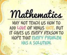 Always need maths