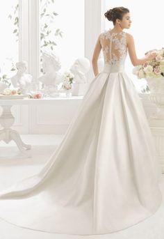 Featured Dress: Aire Barcelona; Wedding dress idea.